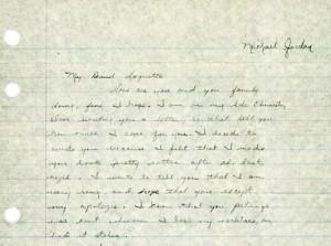 michael jordan letter