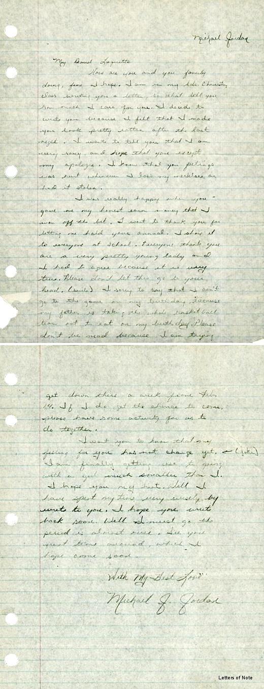 Write me a love lettertomorrow farafina books michael jordan letter spiritdancerdesigns Gallery