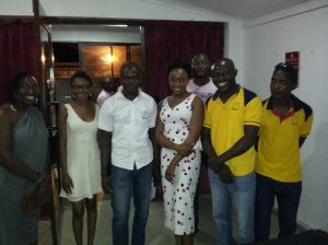 Chimamanda with Kachifo Ltd. staff