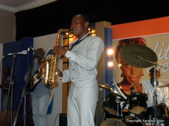 Seun Kuti @ a past Farafina Trust Literary Evening