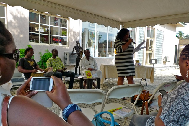 Wana Udobang, writer, poet and OAP with Inspiration FM performs her poems, Love is/Not for Sale